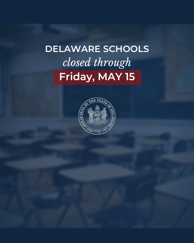 Image: Delaware Schools closed until May 15